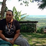 Taino Indian visits Tubagua Eco Lodge
