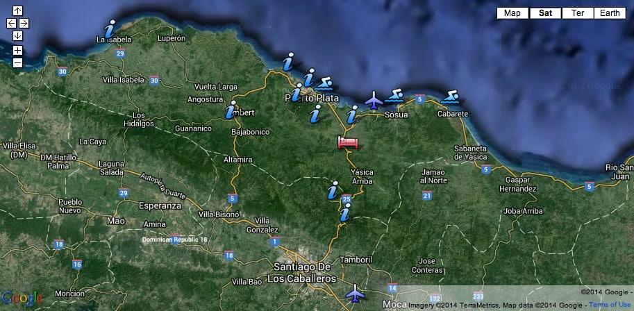 google-map-915px - Tubagua Ecolodge Puerto Plata, Dominican Republic ...